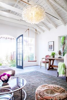entry lighting inspiration... Tour the Most Relaxing Backyard Retreat We've Seen via @domainehome