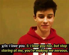 Shawn Mendes — Imagine: You're Shawn's girlfriend Shawn Mendes Magcon, Shawn Mendes Imagines, Future Boyfriend, Future Husband, Boyfriend Goals, I Love You Too, My Love, Magcon Imagines, Bae