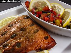 Capers encrusted salmon & salsa