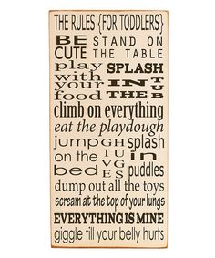 Quote Toddler Rules for the kids scrapbook