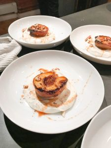 grilled peach, peach, ricotta, whipped ricotta, dessert, healthy, health, gluten free, vegetarian, sweet, how to, cook, create , easy, fruit, honey, pecans, nuts, Dan Churchilll, Australian, chef, homemade,