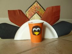 Thanksgiving Paper Crafts - Tableware Turkeys