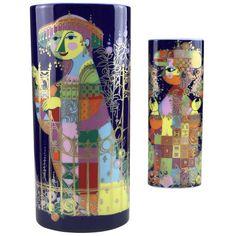Vintage Vases by Björn Wiinblad for Rosenthal, Set of 2 Pottery Vase, Ceramic Pottery, Vases For Sale, Italian Pottery, Marble Pattern, Porcelain Ceramics, Op Art, Art Studios, Glass Art