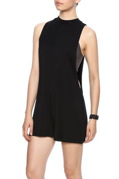 Black romper with a mock collar and open sides.   Open Romper by Rehab. Clothing - Jumpsuits & Rompers - Rompers New Orleans, Louisiana