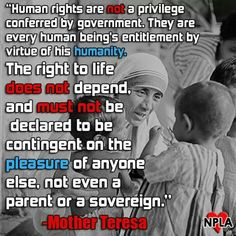 Mother Theresa on Human rights