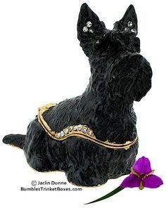 Trinket Box: Scottish Terrier Sitting
