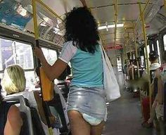 Diapers and Mini Skirt - No Way Girl - Riding the Bus Fashion Fail ---- jokes funny pictures walmart fail humor