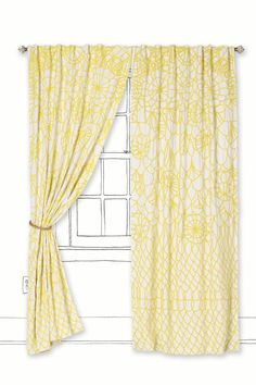love these curtains to brighten up living room!! w/ the brown leather couches we have from naug &&& white walls