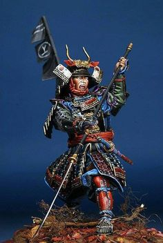 Samurai by mr. Samurai Armor, Arm Armor, The Last Samurai, Japanese Warrior, 3d Figures, Geisha, Japanese Characters, Fantasy Miniatures, Dioramas