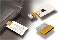 USB Business Card: Great as a leave behind. Card can hold portfolio as well as other interactive elements.