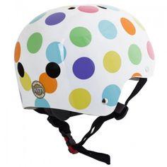Kiddimoto - Pastel Dotty Helmet (Medium)