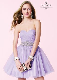 Alyce 3667 Pleated Tulle Party Dress