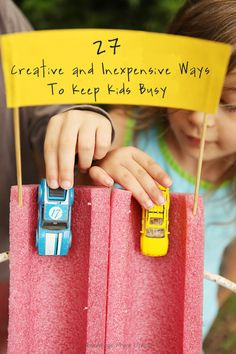 Get kids off the screens and active this summer- Try this DIY: Pool Noodle Race . - Get kids off the screens and active this summer- Try this DIY: Pool Noodle Race Track Kids Crafts, Summer Crafts, Projects For Kids, Diy Projects, Kids Diy, Car Crafts, Craft Activities, Toddler Activities, Kid Activites