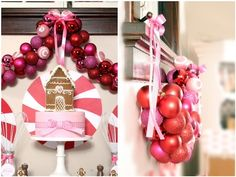DIY Ornament Garland.. Such a pretty way to make your house more festive!