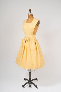 1950's Yellow Apron  Waitress or Workshop Uniform  by Altro Workshops  @ missfarfalla, $72.00