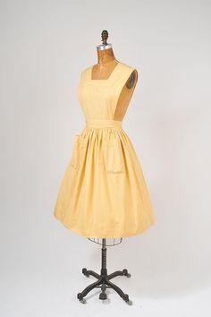 1950's Yellow Apron  Waitress or Workshop Uniform  by Altro Workshops  @ missfarfalla, $72.00