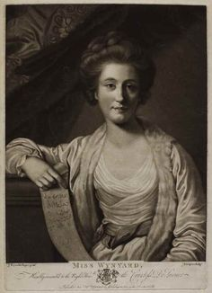 """Miss Wynyard"" 29/11/1771  mezzotint  CRE FINLAYSON, John; (English; 1730-1776) AFTER REYNOLDS, Joshua, Sir; (English; 1723-1792)"