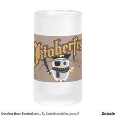 October Beer Festival with Cartoon Owl Frosted Glass Beer Mug German Beer Glasses, Glass Beer Mugs, Owl Cartoon, Beer Festival, Frosted Glass, Pint Glass, Brewing, October, Parties