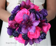 lavender plum purple hot fuschia and gold color schemes | Hot Pink and Purple Wedding Flowers