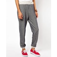ASOS Speckled Jogger Perfect condition UK size 2 US Size 00 *ASOSpeite* speckled joggers, grey with a cream colored waist and leg cuffs. 2 hip pockets. These are XXS and fit tighter on me than what's pictured in the photo.  Would best fit a 00. Too small for me, my loss is your gain!✨ ASOS Pants Track Pants & Joggers