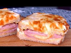 Sándwich Croque Monsieur, sándwiches TOP 1 - YouTube Bechamel, Japanese Sweets, Smoothie Drinks, Yummy Food, Snacks, Beverages, Youtube, Microwaves, Fiesta Party Foods