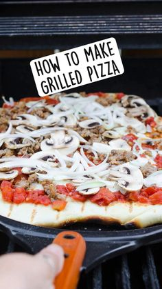 Grilled Pizza Recipes, Grilling Recipes, Cooking Recipes, Good Food, Yummy Food, What Recipe, Crockpot, Dessert, Snacks