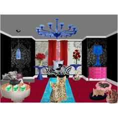 """Cat room"" by annieairwolf on Polyvore"
