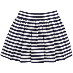 Mini V By Very Girls Stripe Pleat Skirt ($7.41) ❤ liked on Polyvore featuring skirts, mini skirts, white skirt, circle skirt, mini skater skirt, pleated mini skirt and flared skirt