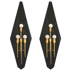 Luxe Pair of Wall Sconces after Fontana Arte at 1stdibs