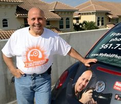 MondoBaldo Peeps in the Street! Frank D from Boynton Beach, FL. Frank was one of our first conversations, seeing that he was clearly Bald & Proud and marketing HIS business (www.mybaldphotographer.com) as such. Frank, we thank you for your support and salute you, sir!