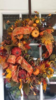 Thanksgiving Wreaths, Easter Wreaths, Holiday Wreaths, Fall Mesh Wreaths, Door Wreaths, Grapevine Wreath, Autumn Wreaths For Front Door, Diy Fall Wreath, Fall Diy
