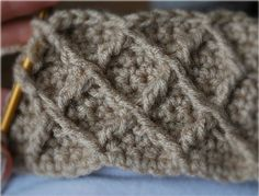 How to Crochet the Honeycomb Lattice Stitch Pattern