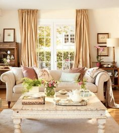 7 Positive Clever Tips: Shabby Chic Living Room Wallpaper shabby chic crafts sewing. Shabby Chic Chairs, Shabby Chic Dining, Shabby Chic Living Room, Shabby Chic Kitchen, Cozy Living Rooms, Shabby Chic Homes, Shabby Chic Furniture, Shabby Chic Decor, Home Living Room