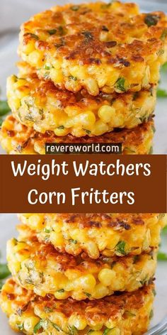 Corn Fritters – Skinny Recipes Corn Fritters Don't forget to Pin this so it will be SAVED to your timeline! Corn Fritters are the perfect way to enjoy corn! You won't be able to resist the crispy little cakes loaded with sweet golden corn … Skinny Recipes, Ww Recipes, Side Dish Recipes, Veggie Recipes, Cooking Recipes, Weight Watcher Vegetable Recipes, Recipies, Fresh Corn Recipes, Skinny Meals