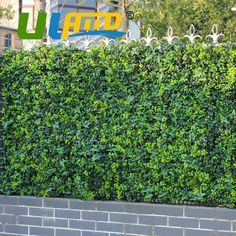 ULAND Artificial Fence Bushes Foliage 3 SQM High Imitation Plants Leaves Synthetic Grass Mat For DIY Garden Wedding Decorations