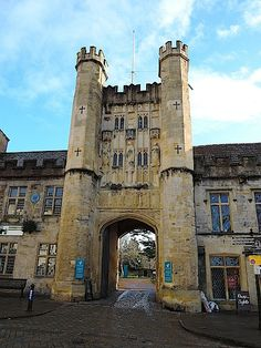 gateway to the bishops' palace, wells, england, 1-14