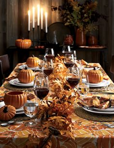 Get your home ready for fall and host a stylish Thanksgiving meal with dinnerware and decorations from Crate and Barrel.