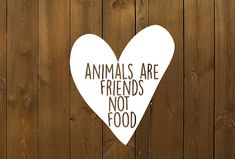 Decal - Animals are friends not food - vegetarian - vegan - animal lover - car decal - typography - statement - protest - activist