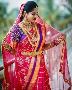 Looking for latest pattu saree designs? Our complete guide will help you understand the silk saree trends and styles you should watch to shop the best! Wedding Saree Blouse Designs, Pattu Saree Blouse Designs, Half Saree Designs, Wedding Sarees, Wedding Gowns, Bridal Sarees South Indian, Indian Bridal Outfits, Indian Bridal Fashion, Indian Saris