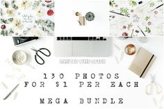 Mega Bundle#1 Each photo for only 1$ by Floral Deco on @creativemarket