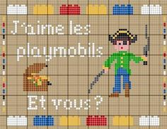 enfant - child - playmobil - point de croix - cross stitch - Blog : http://broderiemimie44.canalblog.com/