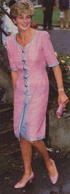 July 1, 1992: Princess Diana during a visit to Royal National Orthopaedic Hospital at Stanmore.