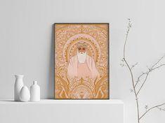Illustrations inspired by Indian and Punjabi culture! Fun Illustration, Illustrations, Spiritual Decor, Madhubani Painting, Wood Burning Art, Inspirational Wall Art, Modern Art Prints, Poster Making, Indian Art