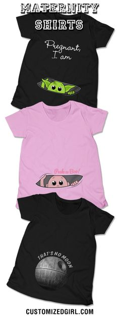 Rock your baby bump with a custom maternity shirt! #maternityshirts