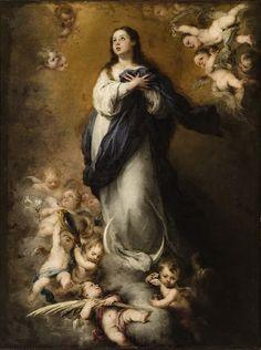 """Inmaculada del Coro """"la Niña"""" - Murillo - Museo de Bellas Artes de Sevilla"""