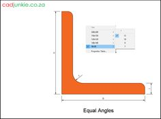 20 2D Steel Sections: UK: Equal Angles to BS EN 10056-1 CAD Format: AutoCAD 2013  Block Type: 2D Dynamic (1x20 Lookup Tables)  Units: mm  Description:  A dynamic block made using the BS EN 10056-1 Tables.  The block is parametric and uses lookup tables to produce 20 different blocks. The block can be edited to user dimensions with the standard AutoCAD Properties editor Steel Properties, Cad Blocks, Autocad, Angles, Equality, Editor, 2d, The Unit, Type