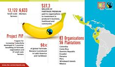Figures and facts of the #Fairtrade #banana production in Latin America and the Caribbean. If you have any questions or want to met some of these producers, come to our stand: 7-740 at #biofach2018