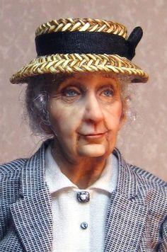 New Miss Marple Miniature Doll by Sharon Cariola