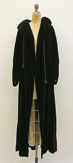 Coat House of Lanvin  (French, founded 1889) Designer: Jeanne Lanvin (French, 1867–1946) Date: fall/winter 1932–33 Culture: French Medium: silk, fur (possibly ermine) Dimensions: Length at CB: 56 3/4 in. (144.1 cm)  Accession Number: 1995.28.20