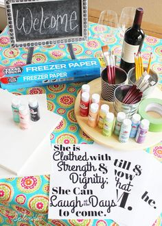 1000 ideas about girls night crafts on pinterest craft for Paint night home parties